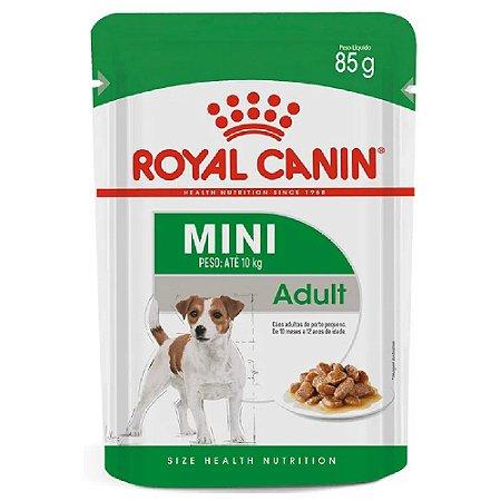 Ração Úmida Royal Canin Mini Adult Cães Adultos Porte Pequeno Wet 85g