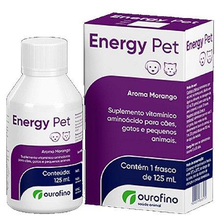 Suplemento Vitamínico Energy Pet Aroma Morango 125ml - Ourofino