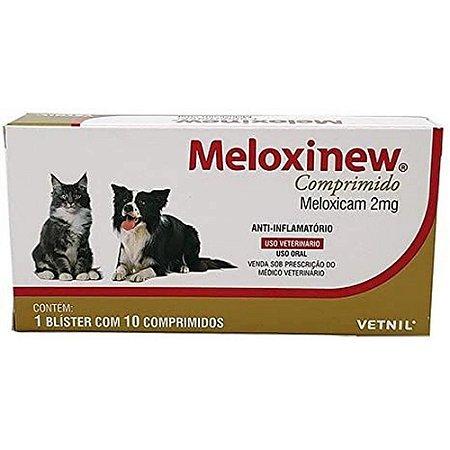 Anti-Inflamatório Meloxinew 2mg Cães e Gatos 10 Comprimidos Vetnil