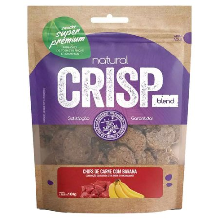 Snacks Chips De Carne Com Banana Natural Crisp 100g