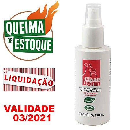 Cleanderm Gel Higienização Auricular 120ml - LIQUIDAÇÃO