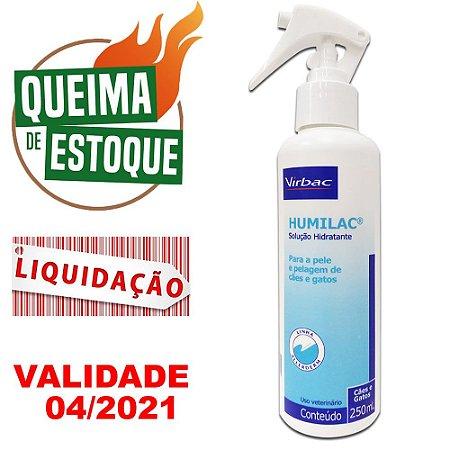Hidratante Humilac 250Ml - Virbac - LIQUIDAÇÃO