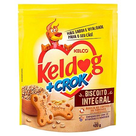 Biscoito Keldog +Crok Integral 400g
