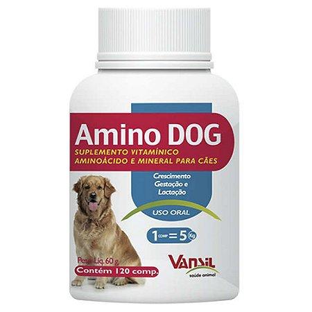 Suplemento Amino Dog 60g 120cps - Vansil