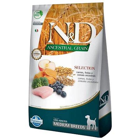 Ração N&D Ancestral Grain Selection Cães Raças Médias 15kg