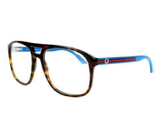 Óculos de Grau Gucci GG1019 KUW 55-17