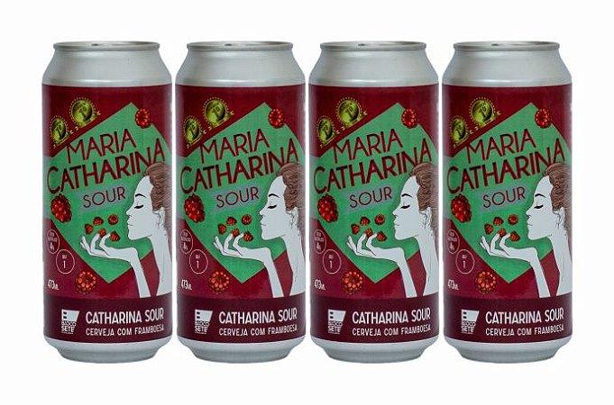 Pack 18: 4 Latas de Maria CATHARINA SOUR Framboesa - 473 ml cada