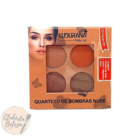 Quarteto de Sombras Nude - Ludurana