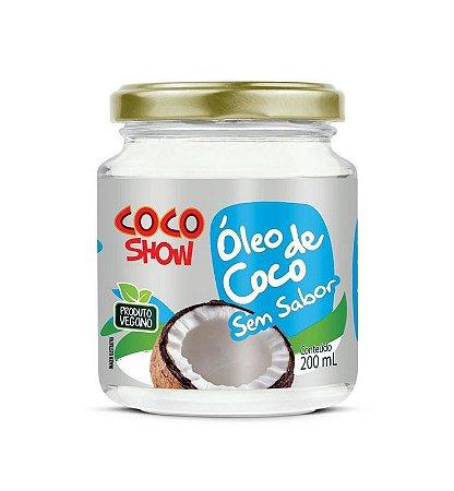 Óleo de coco sem sabor 200ml  coco show