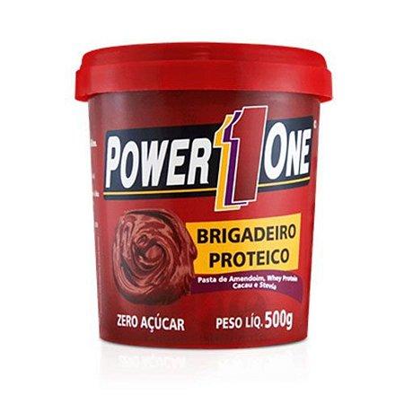 Pasta de amendoim brigadeiro proteico 500g Power1one