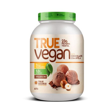 True Vegan Chocolate com Avelã  837 g True Source
