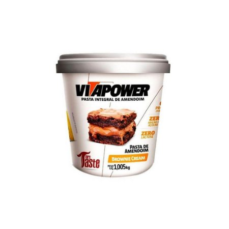 Pasta de Amendoim Integral Brownie Cream 1,005 kg Vita Power