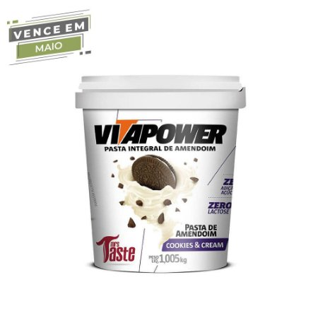 Pasta de Amendoim Integral Cookies e Cream 1,005 kg Vita Power