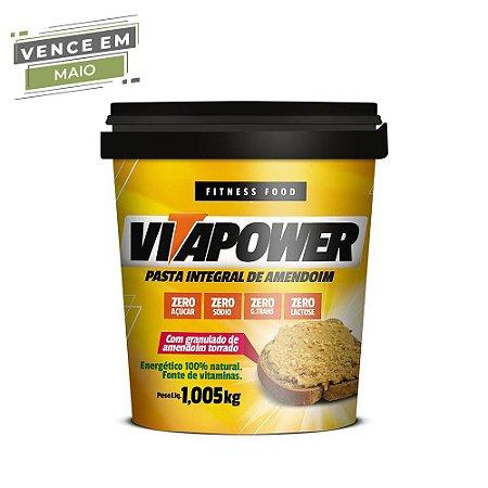 Pasta de Amendoim Integral Crocante 1,005 kg Vita Power