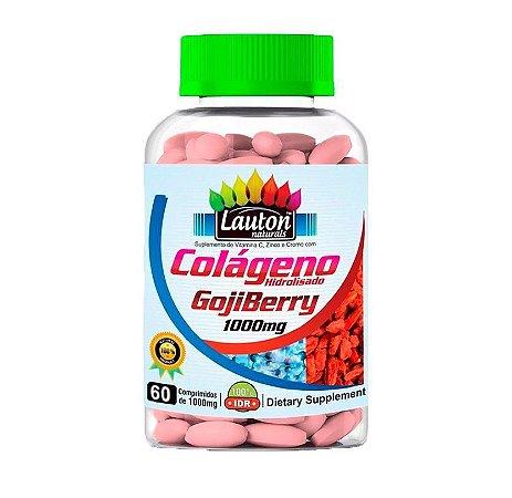 Colágeno Goji Berry 60 Tabletes 1000mg Lauton Nutrition