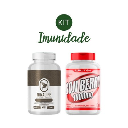 Kit Imunidade 3 Nina Life e Gojiberry Lauton Nutrition