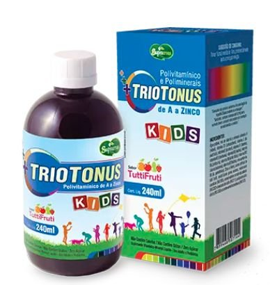 Triotonos Kids Polivitamínico Mineral 240ml- Sabor Tutti Frutti Supra Ervas