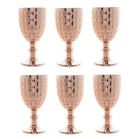 Conjunto com 6 Taças Roman p/Água 345 ml Rose - Bon Gourmet