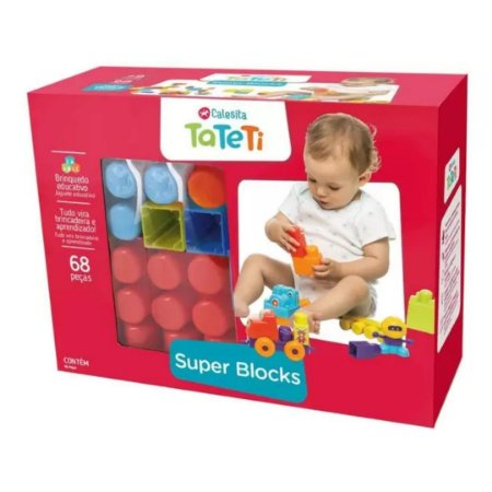 Blocos de Montar Super Blocks TaTeTi 68 Peças - Calesita