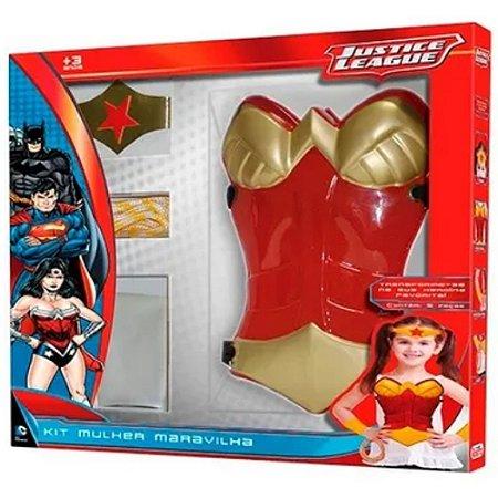 Kit Fantasia Mulher Maravilha 5 Pçs Justice League - Rosita
