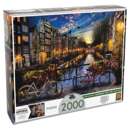 Quebra Cabeça Verão em Amsterdã com 2000 Peças Puzzle – Grow