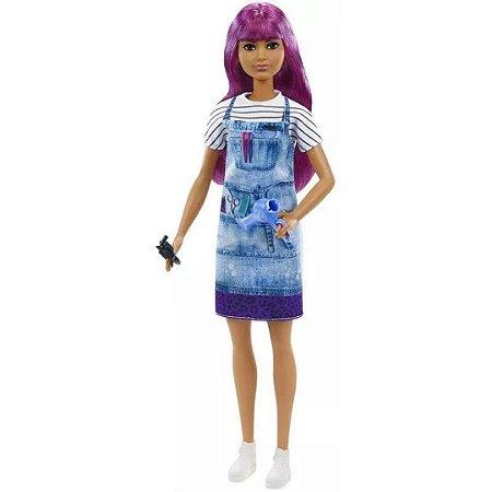 Boneca Barbie Profissões Cabeleireira Morena - Mattel