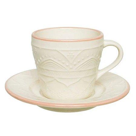 Conjunto para Chá Serena 12pcs 200ml em Porcelana Ø15cm Rose