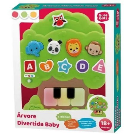 Brinquedo Infantil Arvore Divertida Baby Colorida - DM Toys