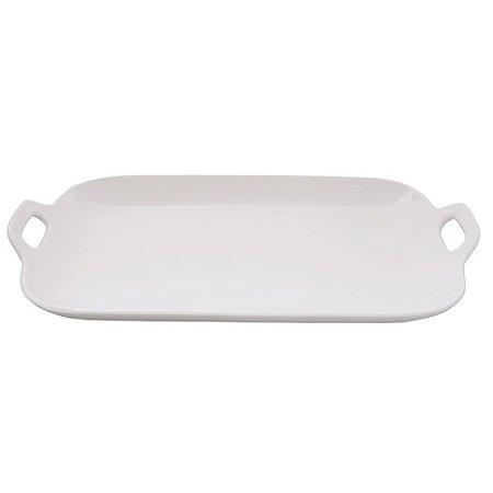 Bandeja Retangular em Porcelana 37cm Branco 600ml - Etilux