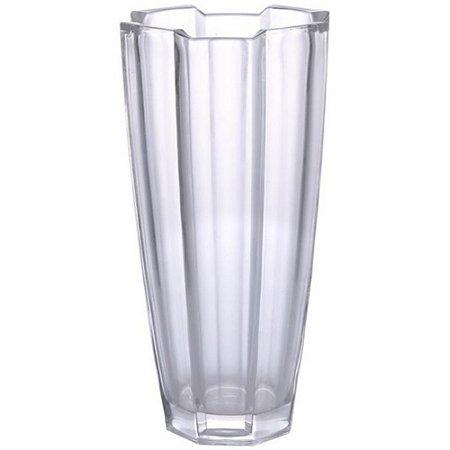 Vaso em Vidro Grosso 30cm Transparente Luxo - TECNOSERV