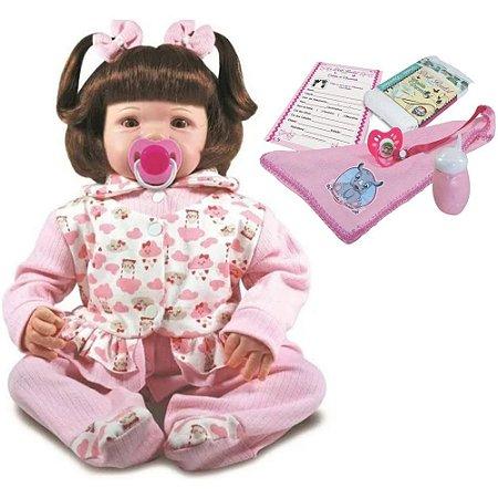 Boneca Bebê Reborn Eloise com Acessórios Doll Realist