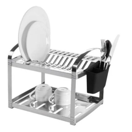 Escorredor de Louça Inox 12 Pratos Suprema 41,5cm - Brinox