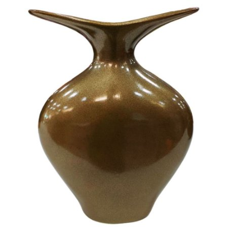 Vaso Decorativo Florença 34cm Bronze Cerâmica Pegorin