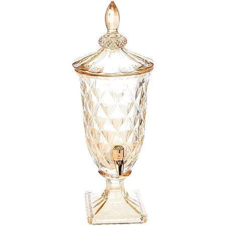 Suqueira Diamond c/Torneira Dourada em Cristal 2L Âmbar