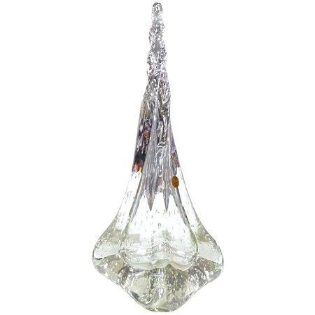 Peça Decorativa Gota Mia Murano Transparente Média