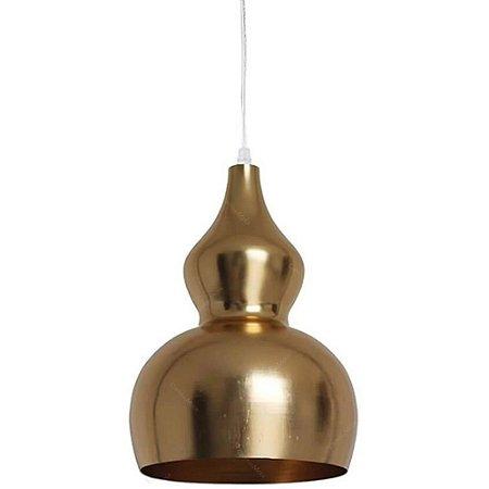 Pendente em Metal Cabaça Ø22cm Dourado - CRAW