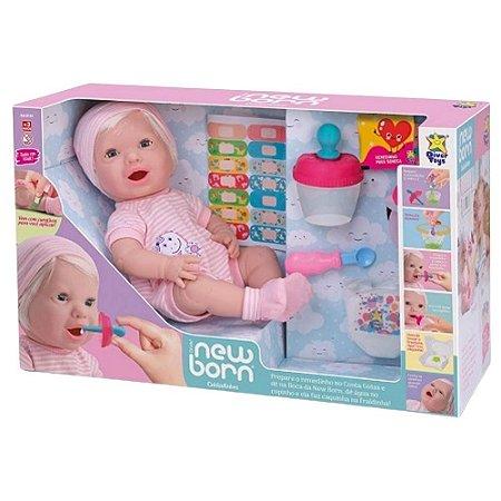Boneca Reborn Cuidadinhos com Acessórios New Born