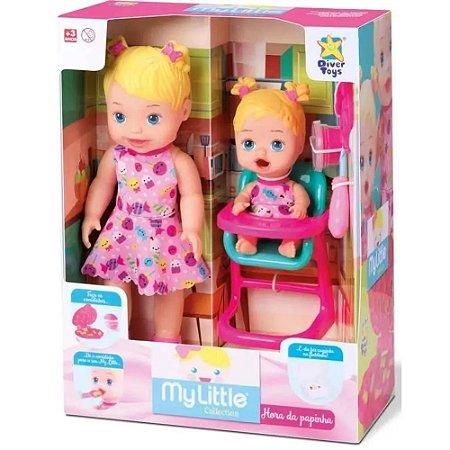 Boneca e Bebê Hora da Papinha com Acessórios My Little