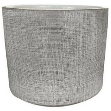 Cachepot em Cerâmica Off White Ø18x16cm - MART