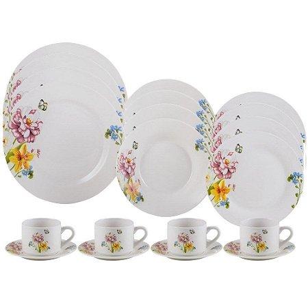 Aparelho de Jantar e Chá 20 Peças Porcelana Summer - Lyor