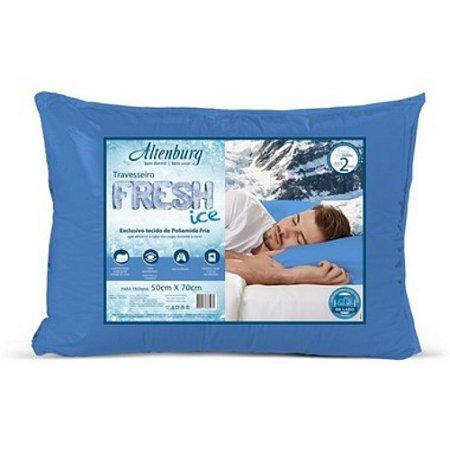 Travesseiro Altenburg Fresh Ice Azul 50x70cm sensação gelada