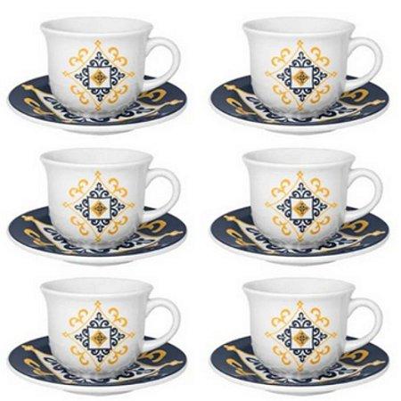 Conjunto de Chá 12 Peças Oxford Floreal São Luis