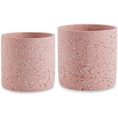 Cachepot Pequeno Cimento Rosê - Moas