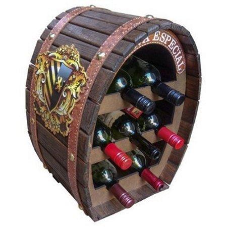 Adega Oval para 7 garrafas Madeira
