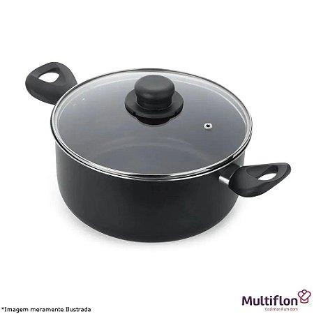 Caçarola 26 Gourmet 6,3l Antiaderente preta Multiflon