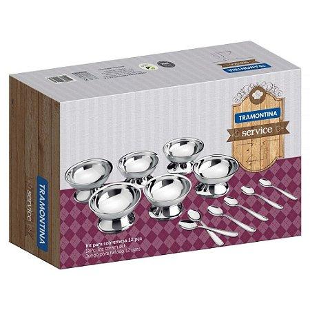 Kit para sobremesa 12 peças aço inox service Tramontina