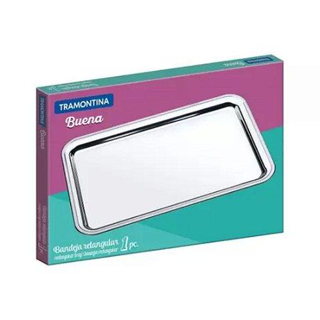 Bandeja Rentagular Buena 1 Peça  49 x 33 Inox Tramontina