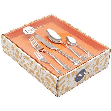 Faqueiro Roma 30 Peças em Aço Inox c/Gift Box - Bon Gourmet