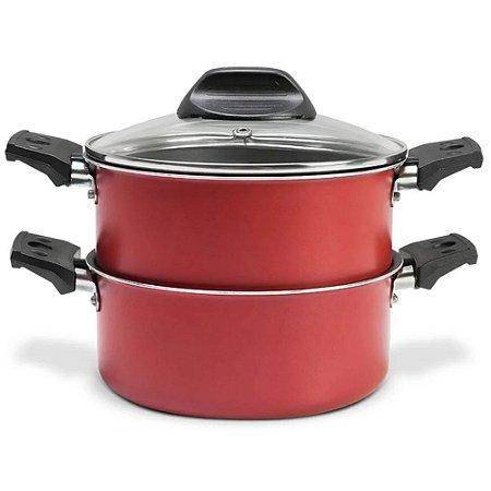 Cozi Vapore Antiaderente Vermelho 16cm 1,45L - Brinox
