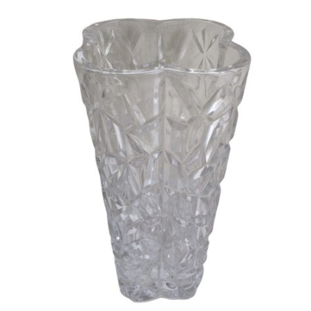 Vaso de Vidro Detalhado 14x24cm - TECNOSERV